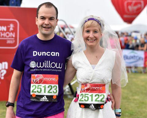 Marathon marriage couple