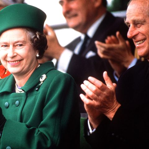 queen prince philip clapping
