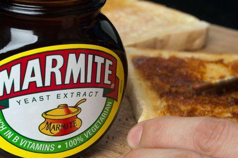 marmite being spread onto toast