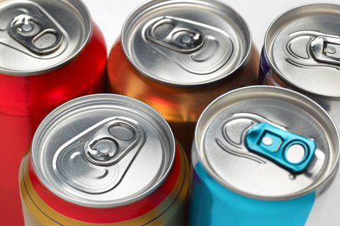 Frizzy drink cans