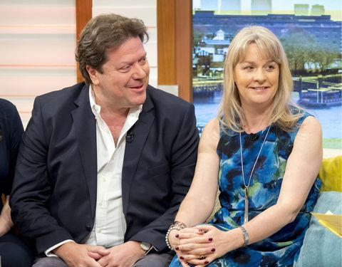 Blind date couple sit on Good Morning Britain sofa on Friday morning