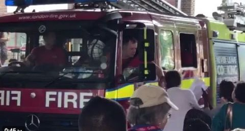 London Fire Brigade leave Grenfell Tower