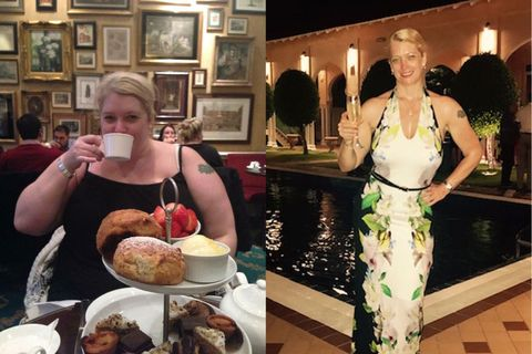Rosalynn Bartlett before and after losing 12 stone
