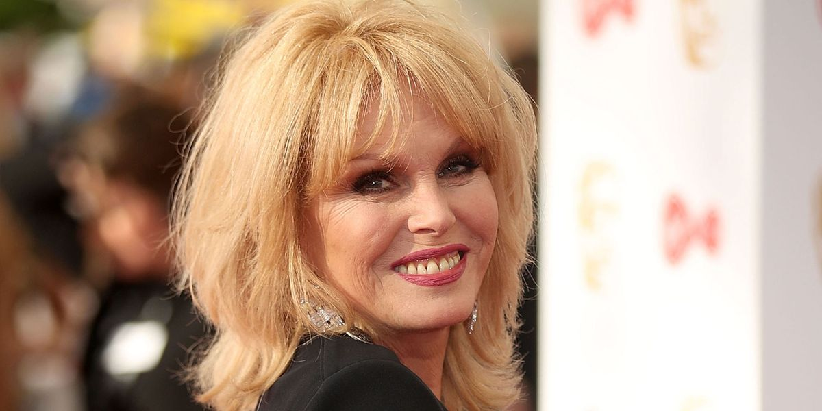 Joanna Lumley has an old fashioned way of keeping in touch with her husband when travelling