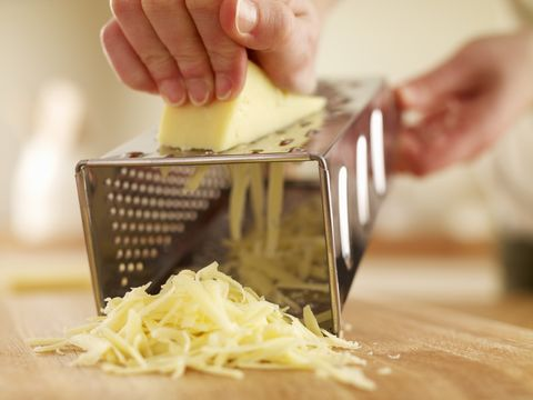 How many recipes call for only grating a small amount of cheese, leaving you with a sizable hunk leftover? Tons. Go ahead and shred all that cheese and freeze it in freezer bags. Next time you're in the mood for lasagna, enchiladas, or anything cheesy, just thaw and use. No more moldy cheese blocks!   <!--EndFragment-->
