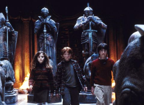 Harry Potter, Ron Weasley and Hermione Granger in Harry Potter and the Philosopher's Stone