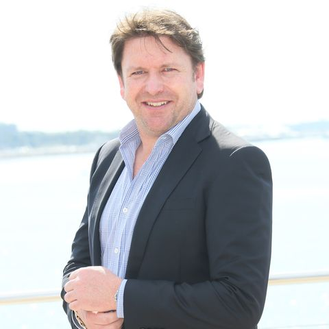james martin shows off kitchen diy project