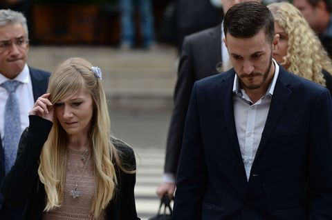 Chris Gard (R) and Connie Yates, the parents of terminally-ill 11-month-old Charlie Gard, arrive at the Royal Courts of Justice in London