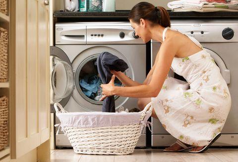 Woman doing washing