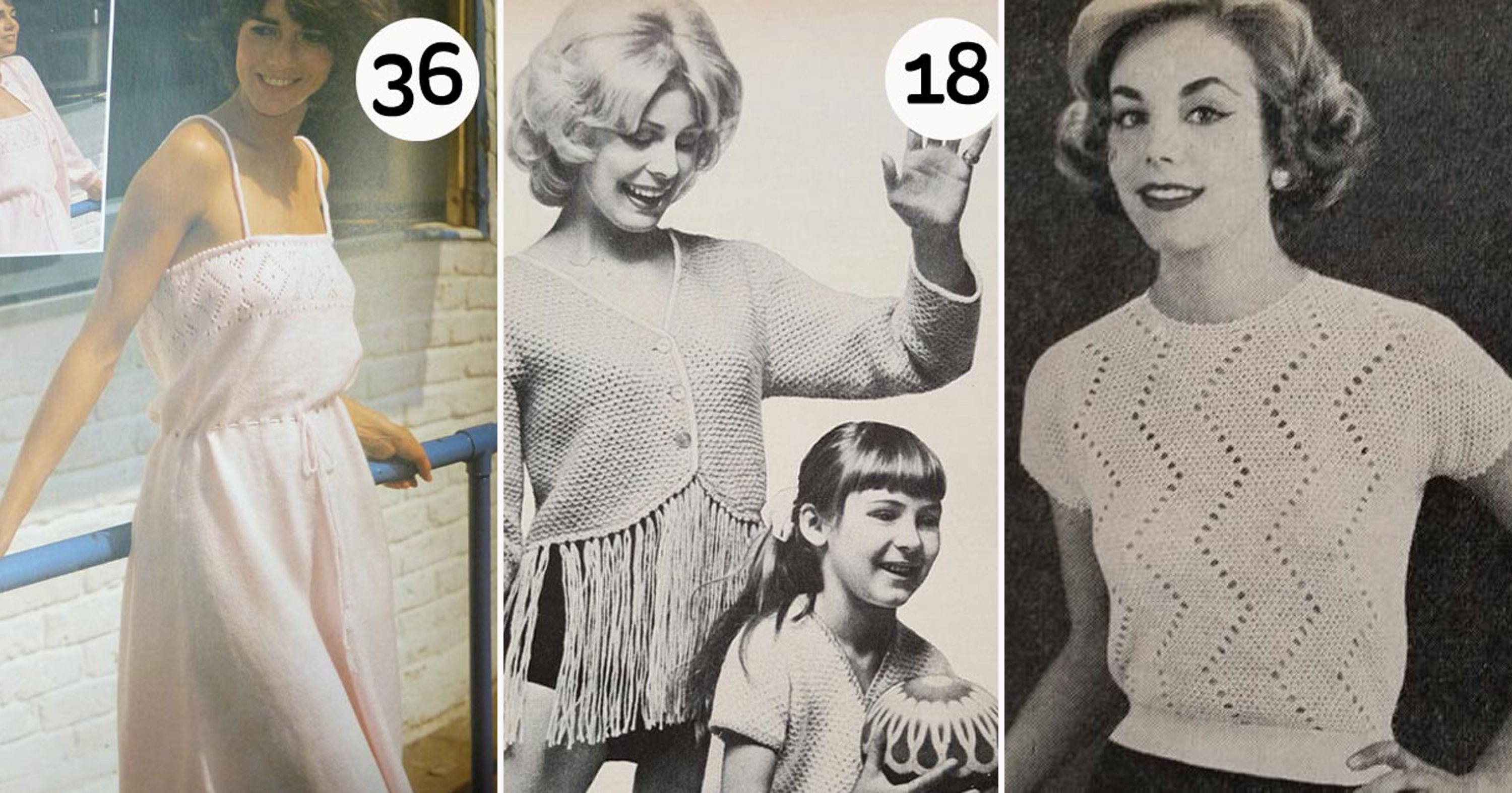 Hobbycraft Is Bringing Back Vintage Knitwear Patterns From The 1940s