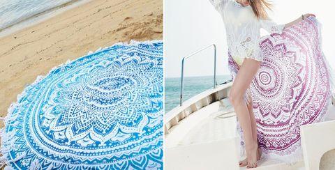 Amazon round beach towel trend