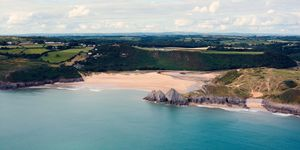 Three Cliffs Bay, Gower Peninsula, Wales