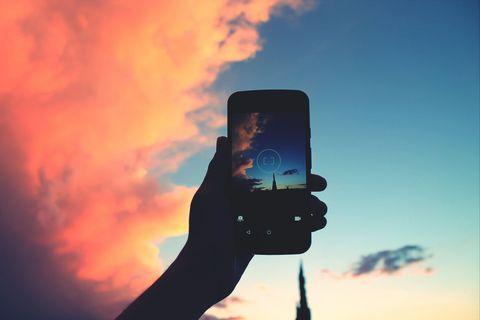 Smartphone photo of sky