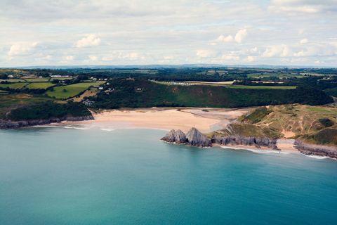 Three Cliffs Bay, Gower Peninsula, Wales
