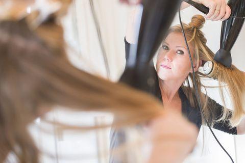 Hairstyle, Eyelash, Long hair, Brown hair, Makeover, Hair coloring, Layered hair, Hairdresser, Artificial hair integrations, Service,