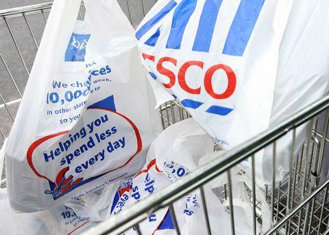 Tesco plastic bags