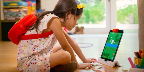 Young girl coding