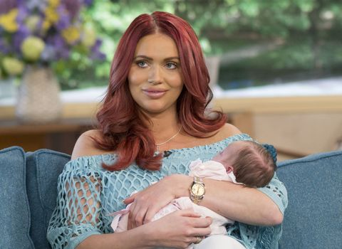 Amy Childs with daughter on This Morning