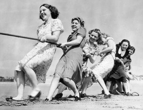 Women tug-of-war