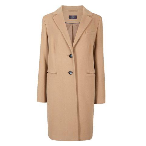 Clothing, Coat, Outerwear, Overcoat, Trench coat, Beige, Tan, Sleeve, Jacket, Collar,