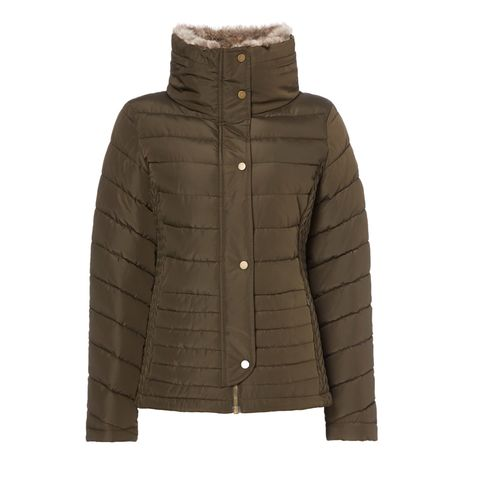 Jacket, Hood, Clothing, Outerwear, Brown, Sleeve, Parka, Beige, Puffer, Top,