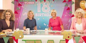 Loose Women celebrate 18 years, Nadia Sawalha, Kaye Adams, Jane Moore, Sherrie Hewson