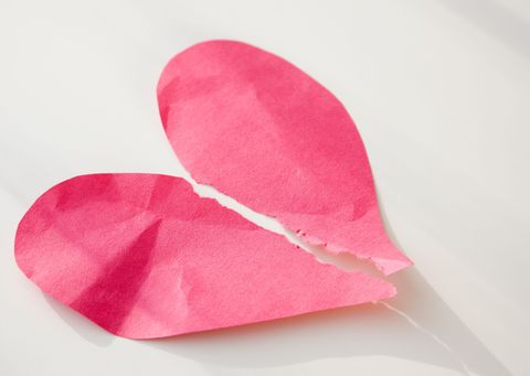 Paper heart ripped up