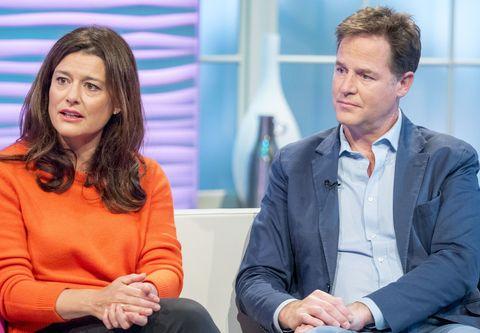 Nick Clegg and wife Miriam Clegg