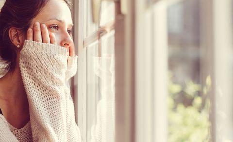 Woman feeling lonely