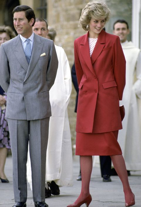 "<p>Diana didn't just theme her outfits and&nbsp;shoes. She also occasionally wore colored stockings—presumably matched&nbsp;to her outfit&nbsp;thanks to hand-dying, a sartorial&nbsp;luxury taken advantage of to this day by&nbsp;Kate Middleton, whose hats are designed to perfectly match her outfits thanks to expert <a href=""http://www.marieclaire.com/fashion/news/a19751/jane-taylor-interview/"" target=""_blank"" data-tracking-id=""recirc-text-link"">milliners like Jane Taylor</a>.&nbsp;</p>"