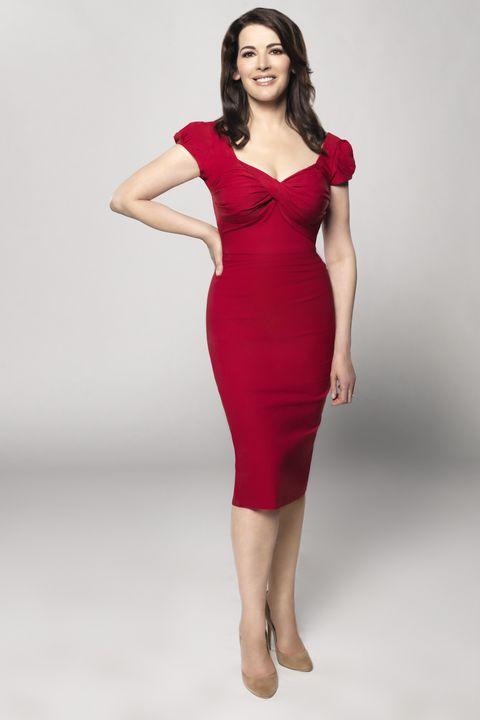 Fashion model, Clothing, Dress, Cocktail dress, Shoulder, Red, Neck, Waist, Pink, Leg,