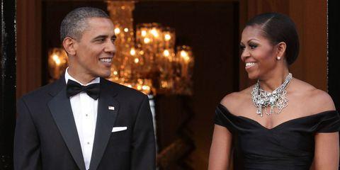 Michelle and Barack Obama   ELLE UK