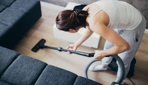 Woman doing vacuuming