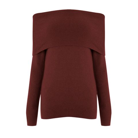 Clothing, Outerwear, Maroon, Sleeve, Neck, Jersey, Sweater, Shoulder, Wool, Collar,