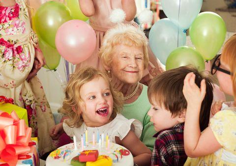 Granny at birthday party