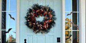 Halloween wreath ribbons