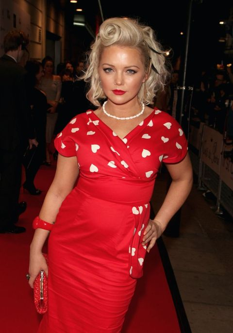 Hannah Spearritt attends the 16th Annual WhatsOnStage Awards at The Prince of Wales Theatre on February 21, 2016
