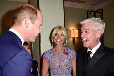 Holly Willoughby with Prince William