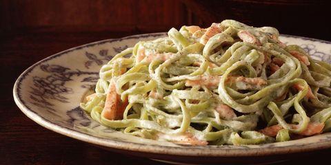 Dish, Food, Cuisine, Ingredient, Fettuccine, Carbonara, Tagliatelle, Fettuccine alfredo, Italian food, Taglierini,