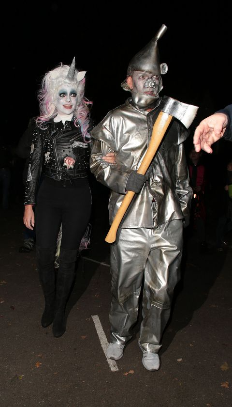 Holly Willoughby and Dan Baldwin at Jonathan Ross's Halloween Party