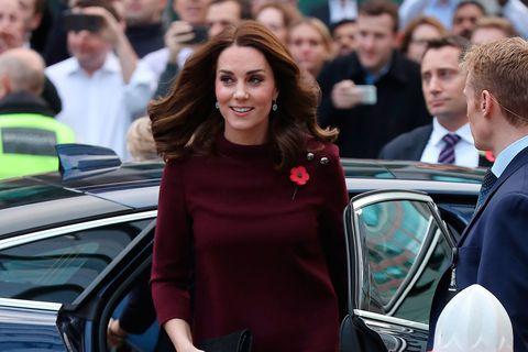 Duchess of Cambridge burgundy dress