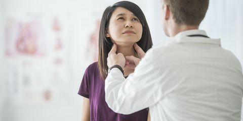 """<p>The butterfly-shaped gland, which lives in the base of your neck, is frequently associated with everything from fatigue to excess pounds&nbsp;–<span class=""""redactor-invisible-space"""">&nbsp;</span>for good reason. 'Thyroid hormones affect nearly every organ and process in the body,'&nbsp;says Angela Leung, M.D., assistant clinical professor of medicine in UCLA's Division of Endocrinology. How it works: Thyroid-stimulating hormone (TSH), released by the brain's pituitary gland, tells the thyroid to produce and release thyroxine (<span data-verified=""""redactor"""" data-redactor-tag=""""span"""">T4</span>). You metabolis<span>e&nbsp;</span><span data-verified=""""redactor"""" data-redactor-tag=""""span"""" style=""""background-color: initial;"""">T4</span><span>&nbsp;into a more usable form,&nbsp;</span><span data-verified=""""redactor"""" data-redactor-tag=""""span"""" style=""""background-color: initial;"""">T3</span><span>, which goes out into the body to accomplish its mile-long to-do list.</span></p><p><span class=""""redactor-invisible-space"""" data-verified=""""redactor"""" data-redactor-tag=""""span"""" data-redactor-class=""""redactor-invisible-space""""></span></p>"""