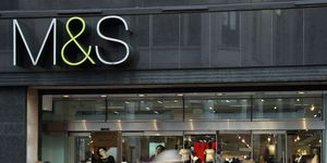 Marks and Spencer shop sign