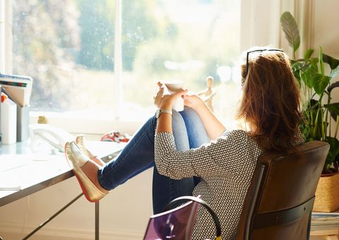 Woman spending time alone