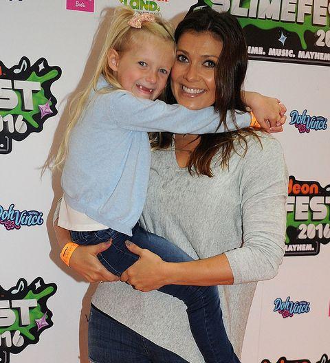Kym Marsh with daughter