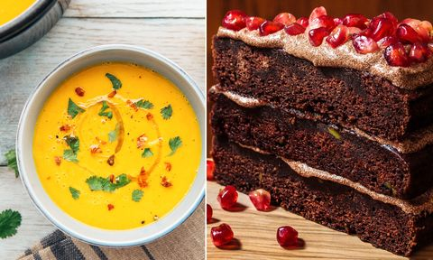 Soup and cake