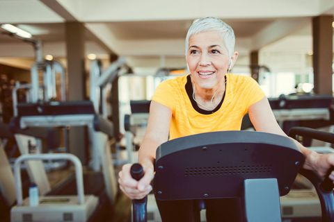 Older woman at the gym
