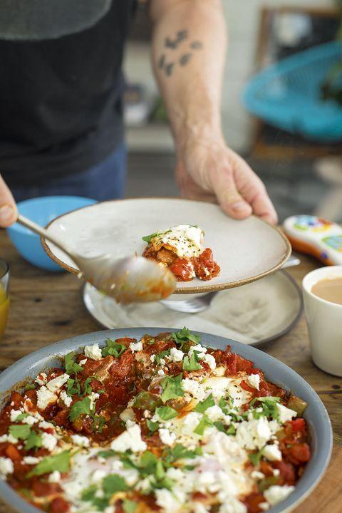 shakshuka baked eggs healthy breakfast Tom Kerridge
