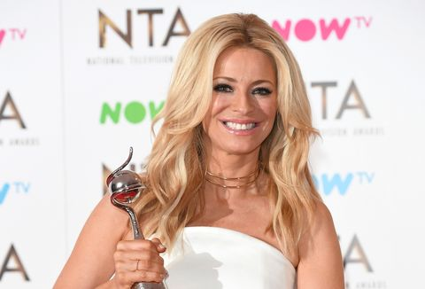Tess Daly with the NTAs Talent Show award for Strictly Come Dancing