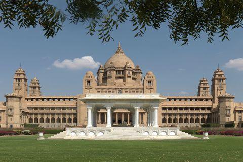 """<p><em data-redactor-tag=""""em"""">Jodhpur, India</em></p><p><a href=""""https://www.tripadvisor.com/Hotel_Review-g297668-d317623-Reviews-Umaid_Bhawan_Palace_Jodhpur-Jodhpur_Jodhpur_District_Rajasthan.html"""" class=""""body-btn-link"""" data-href=""""https://www.tripadvisor.com/Hotel_Review-g297668-d317623-Reviews-Umaid_Bhawan_Palace_Jodhpur-Jodhpur_Jodhpur_District_Rajasthan.html"""" target=""""_blank"""">Book Now</a></p>"""